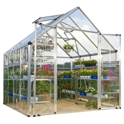 Palram Snap & Grow 8' Series Hobby Greenhouse -Silver ( 8 x 8 x 7)