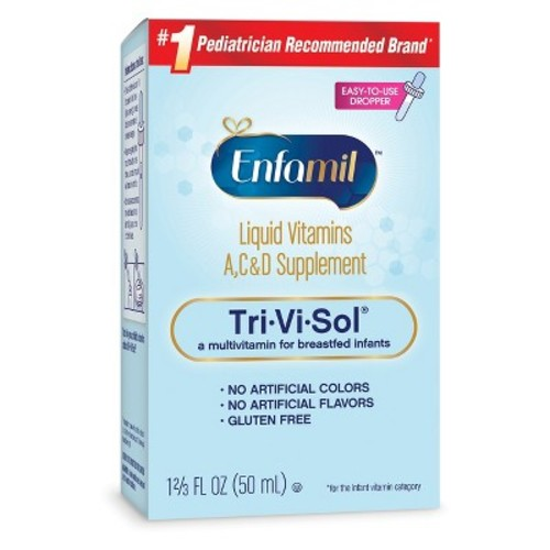 Enfamil Tri-Vi-Sol Vitamins A, D & C Supplement Drops for Infants, 50 mL