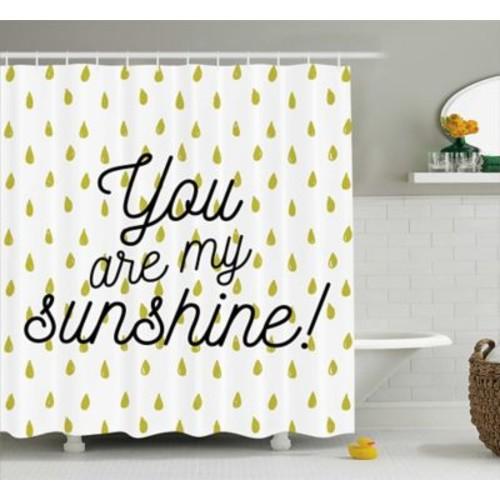 East Urban Home Raindrops Quotes Decor Shower Curtain; 69'' H x 75'' W