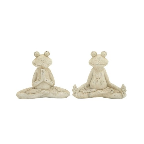 Studio 350 Garden Accents Garden Frog 2 Assorted