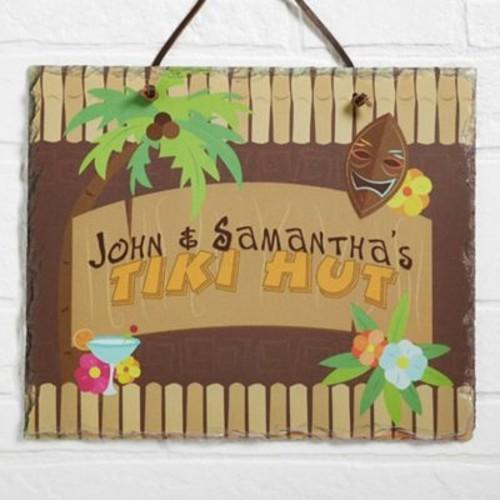 Tropical Paradise Horizontal Slate Plaque