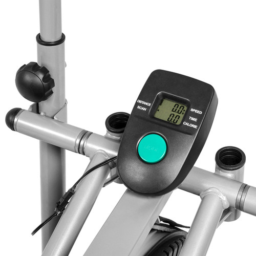 BestChoiceproducts 2-in-1 Elliptical Cross Trainer Bike Exercise Machine with LCD Display - Black