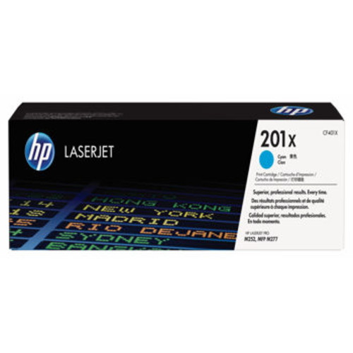 HP 201X High-Yield Toner Cartridge Cyan