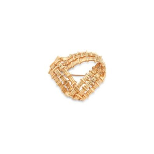 Estate Jewelry Collection - Tiffany & Co. 18K Yellow Gold Corrugated Pin