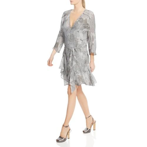 Ruffle-Hem Silk Dress