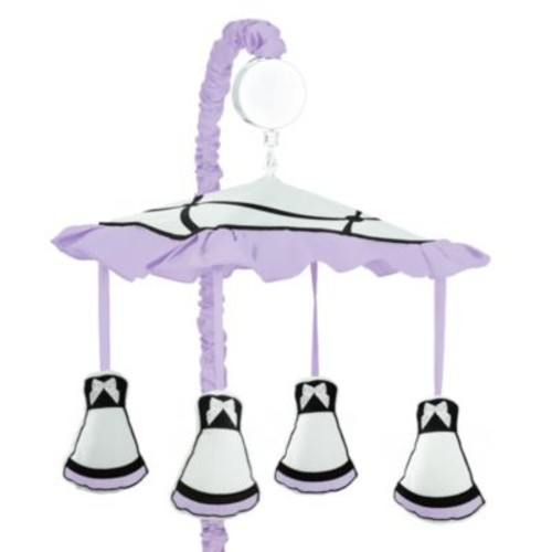 Sweet Jojo Designs Princess Musical Mobile in Black/White/Purple