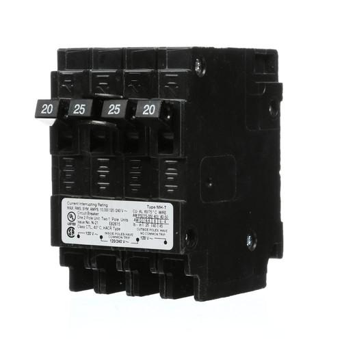 Murray 25 Amp Double-Pole and (2) 20 Amp Single-Pole Type MP-T Triplex Circuit Breaker