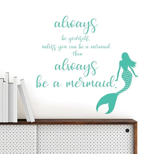 WallPOPs Mermaid Wall Quote