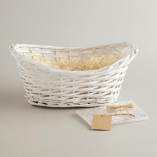 White Gift Basket Kit