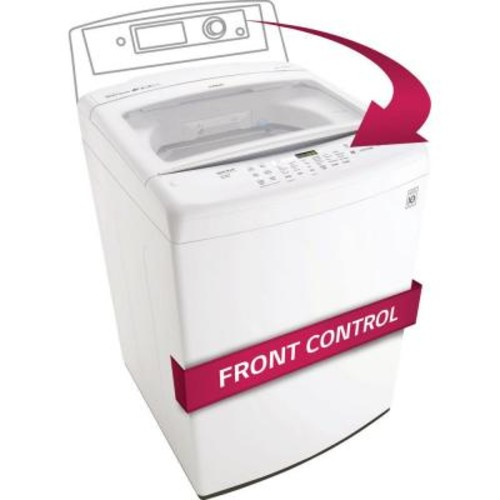 LG Electronics 4.5 cu. ft. High-Efficiency Top Load Washer in White, ENERGY STAR