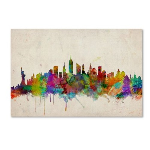 York Skyline by Michael Tompsett, 14 by 19-Inch Canvas Wall Art [14 by 19-Inch]