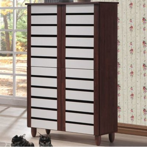 Wholesale Interiors Baxton Studio Gisela 18-Pair Shoe Storage Cabinet