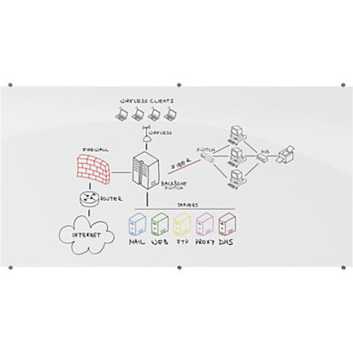 Best-Rite Visionary Magnetic Glass Marker Board, 48
