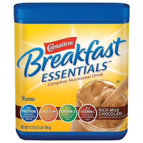 Carnation Breakfast Essentials Complete Nutritional Drink, Powder Rich Milk Chocolate