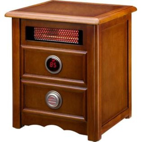Dr. Infrared Heater Advanced Dual Heating System 1,500 Watt Infrared Cabinet Space Heater with Remote Control - DR999