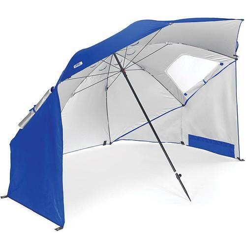 Sport-Brella Portable All-Weather and Sun Umbrella. 8-Foot Canopy [Blue]