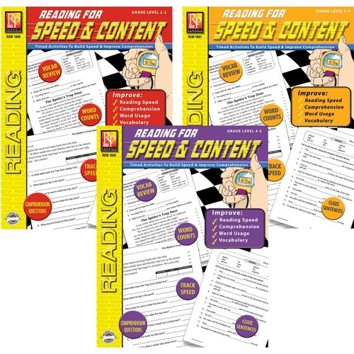 Remedia Reading For Speed & Content 3-Book Set