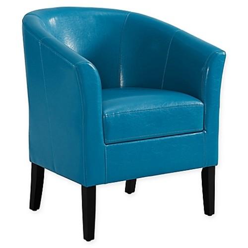 Linon Home Sadie Club Chair in Dark Blue