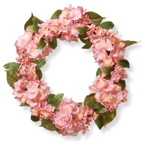 Artificial Hydrangea Wreath Pink 24