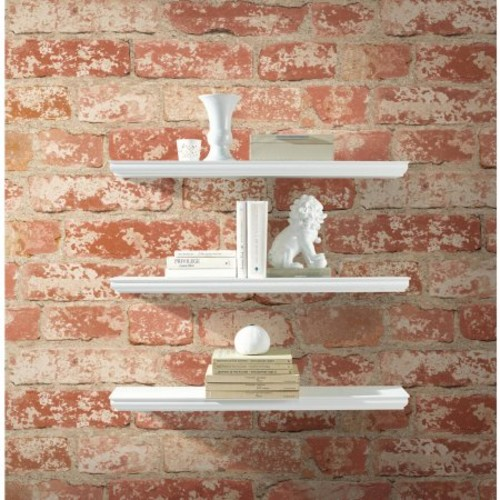 RoomMates Stuccoed Red Brick Peel and Stick Wall Dcor Wallpaper