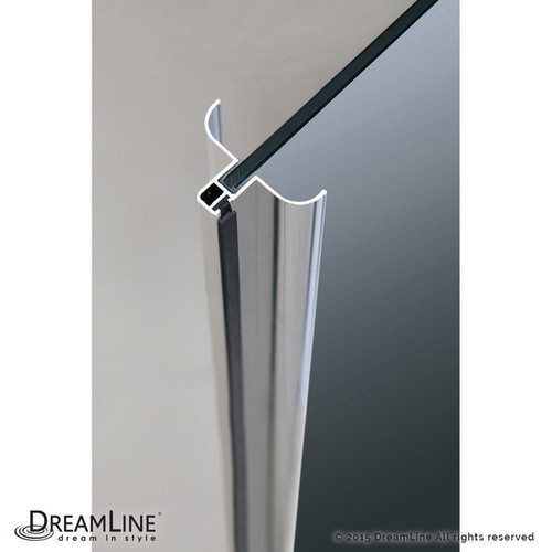 DreamLine Flex 44 - 48 in. W x 72 in. H Pivot Shower Door