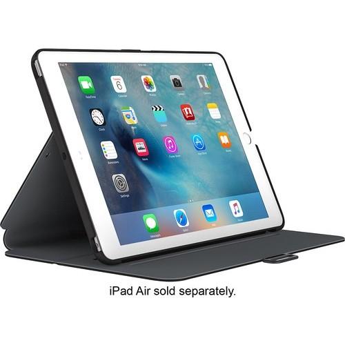 Speck - StyleFolio Case for 9.7-inch Apple iPad Pro - Black/Slate Gray