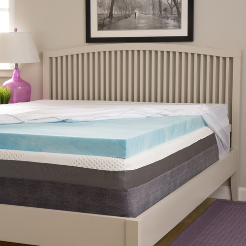 Comforpedic Loft from Beautyrest Choose Your Comfort 3-inch Gel Memory Foam Mattress Topper with Egyptian Cotton Cover