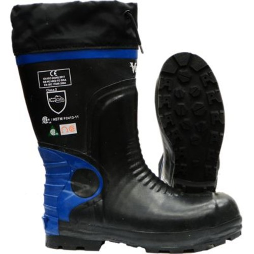 Viking Ultimate Construction Safety Boot, ASTM F2413-11 Steel Toe, Steel Plate, NBR Rubber, Blue and Black (VW88-10)
