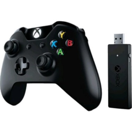 Microsoft Xbox One Controller + Wireless Adapter For Windows 10 - Wireless - Xbox One, Pc - Black (ng6-00001)