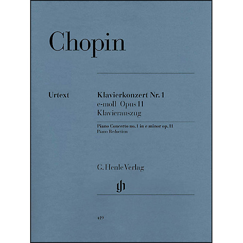 G. Henle Verlag Concerto for Piano and Orchestra E minor Op. 11, No. 1 By Chopin [Standard]