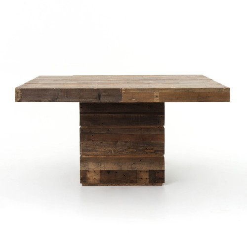 Tahoe Square Dining Table in Rustic Natural