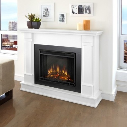 Real Flame - Silverton Electric Fireplace-White