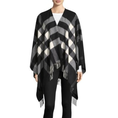BURBERRY Collette Wool Check Cape