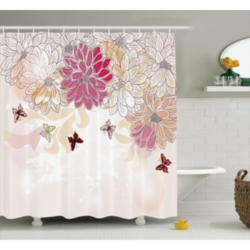 East Urban Home Baby Petals Spring Decor Shower Curtain; 69'' H x 70'' W
