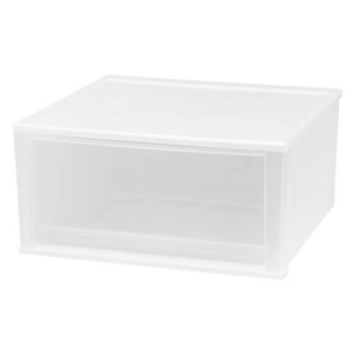 IRIS 51 qt. X-Large Stacking Drawer in White