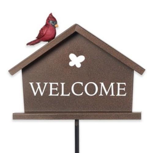 Precious Moments 16-Inch Birdies Welcome Garden Stake in Bronze
