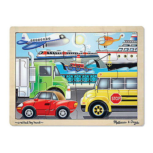 Melissa & Doug On the Go Vehicles 12-Piece Jigsaw Puzzle
