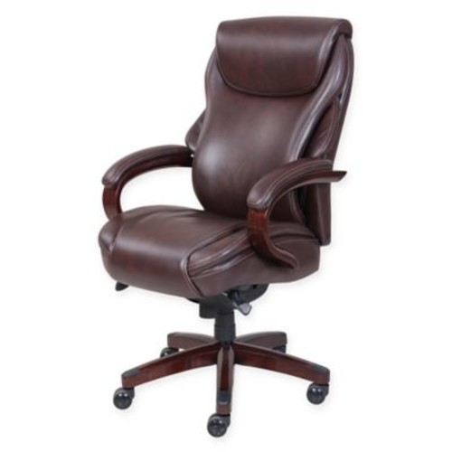 La-Z-Boy Hyland Leather Executive Office Chair in Coffee