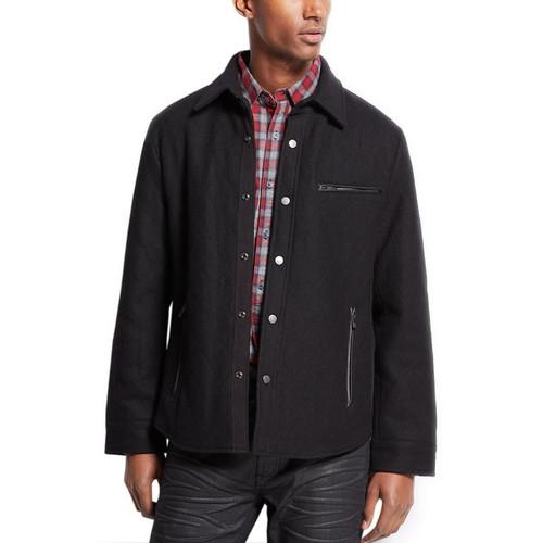 INC International Concepts Mens Quilted Jacket Large L Black