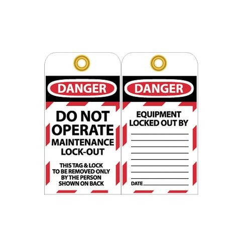 Nmc Work Specific Danger Lockout Tags - Danger Do Not Operate Maintenance Lock Out