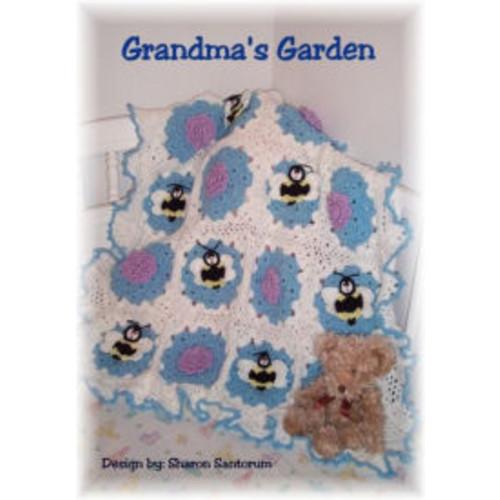 Grandmas Garden baby afghan crochet pattern