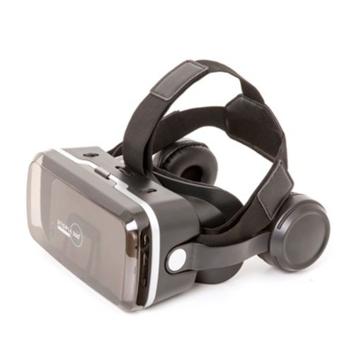 VR Headset with built in headphones