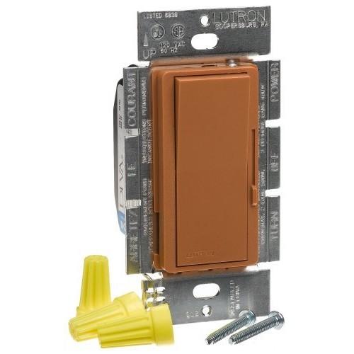 Lutron DVSC-600P-TC Diva 600W Single Pole Dimmer Terracotta [Terracotta]