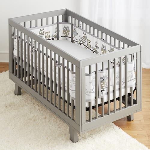 BreathableBaby Mesh Crib Liner - Owl Fun