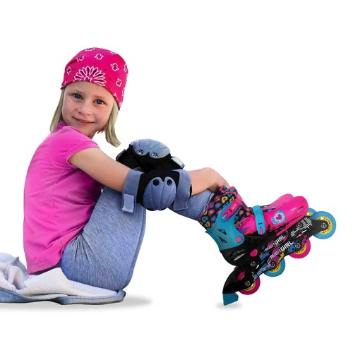 Rush Girl Inline Skates with Protective Gear Set