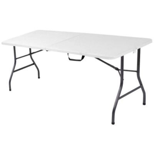 Cosco 6 ft. White Speckle Center Fold Table