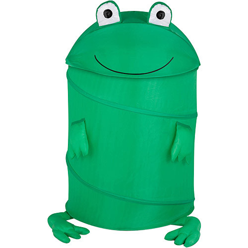 Honey-Can-Do HMP-02058 Kid's Pop-Up Hamper, Frog, Large [Frog]