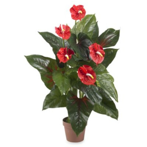 Nearly Natural Real Touch 3-Foot Anthurium Silk Plant