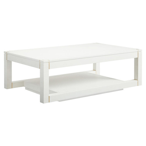 Floating Parsons Coffee Table, Alabaster