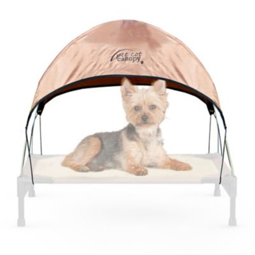 K&H Small Pet Cot Canopy in Tan